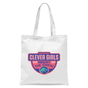 Jurassic Park Clever Girls Inherit The Earth Tote Bag - White