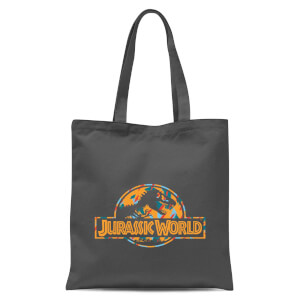 Jurassic Park Logo Tropical Tote Bag - Grey