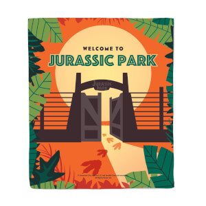 Jurassic Park Gates Fleece Blanket