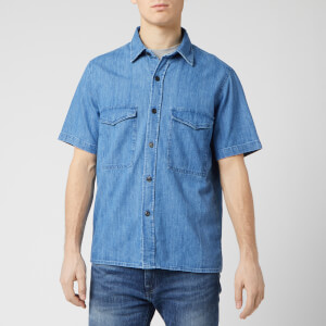 Edwin Men's Big Shirt - Blue