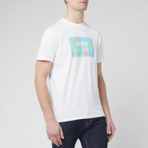 Edwin Men's Birds of Paradise Logo Box T-Shirt - White/Angel Blue