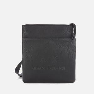 Armani Exchange Men's Tumbled Cross Body Bag - Black