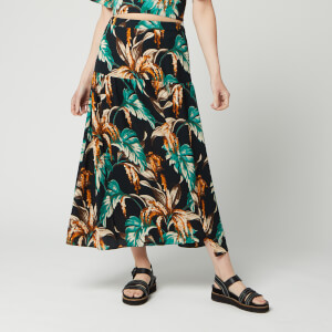 Whistles Women's Tropical Floral Samira Skirt - Green/Multi