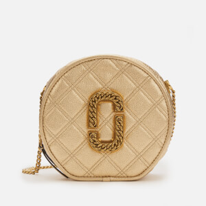 Marc Jacobs Women's The Status Round Metallic Bag - Gold