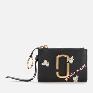 Marc Jacobs Women's Magda Archer X The Snapshot Top Zip Multi Wallet - Black Multi
