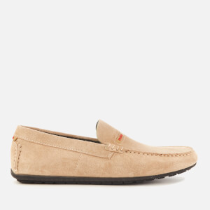 HUGO Men's Dandy Suede Driving Shoes - Beige