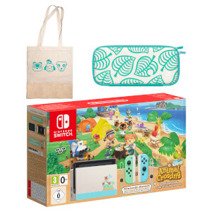 Nintendo Switch Animal Crossing: New Horizons Edition + Tote Bag Pack