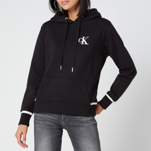 Calvin Klein Jeans Women's Embroidery Tipping Hoodie - CK Black