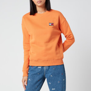 Tommy Jeans Women's Tommy Badge Crew Neck Sweatshirt - Rustic Orange