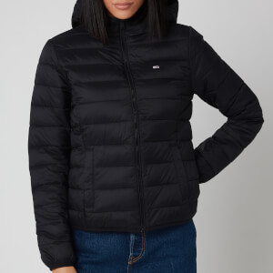 Tommy Jeans Women's Hooded Quilted Zip Through Jacket - Black