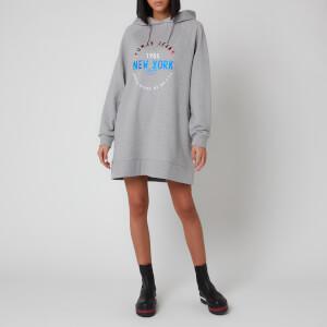 Tommy Jeans Women's Logo Hoody Dress - Light Grey Heather