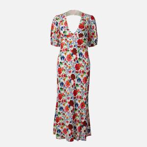 RIXO Women's Steph Midi Dress - White Floral