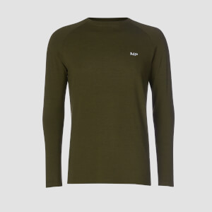 T-shirt Performance Long Sleeve MP - Verde militare/Nero