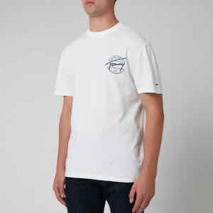 Tommy Jeans Men's Round Back Logo T-Shirt - White