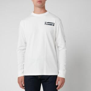 Tommy Jeans Men's Longsleeve Script Box T-Shirt - White