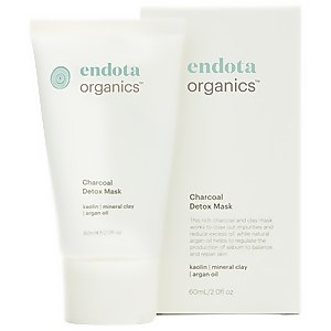 endota spa Charcoal Detox Mask With Brush 60ml
