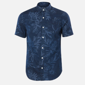 Superdry Men's Miami Loom Box Fit Shirt - Miami Tropical Indigo