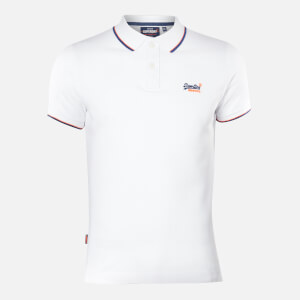 Superdry Men's Poolside Pique Polo Top - Optic