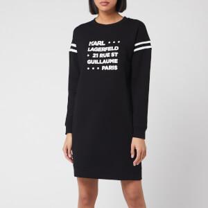 Karl Lagerfeld Women's Stacked Logo Address Sweatdress - Black