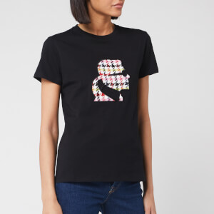 Karl Lagerfeld Women's Boucle Karl Head T-Shirt - Black