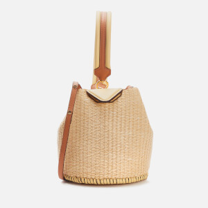 Danse Lente Women's XS Josh Bucket Bag - Lemon/Rice Rafia