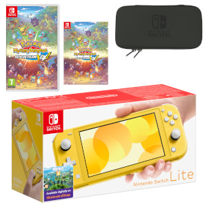 Nintendo Switch Lite (Yellow) Pokémon Mystery Dungeon: Rescue Team DX Pack