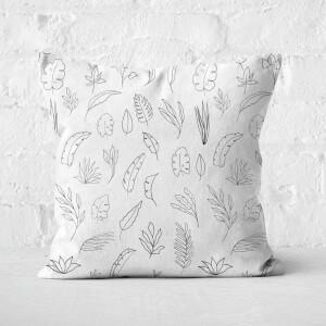 Light Florals Square Cushion