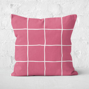 Check Square Cushion
