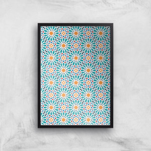 Geometric Flower Tiles Giclée Art Print