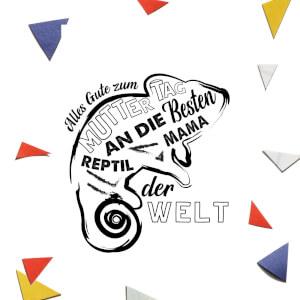 Alles Gute Zum Muttertag An Die Besten Reptil Mama Der Welt Greetings Card
