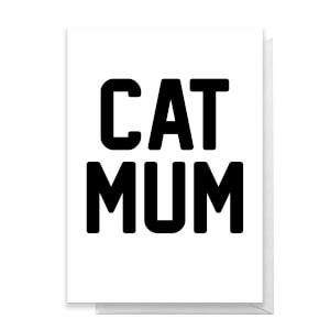 Cat Mum Greetings Card