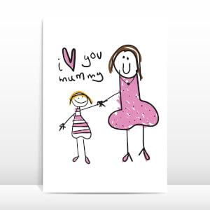 I Love You Mummy Greetings Card