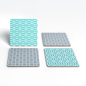 Cool Tone Small Tiles Coaster Set