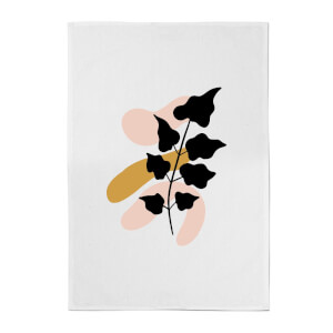 Abstract Branch Cotton Tea Towel