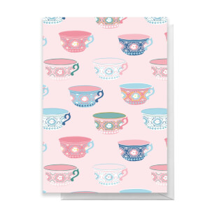 Tea Cup Pattern Greetings Card