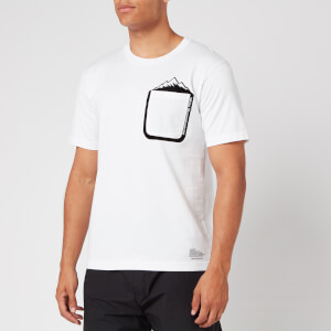 White Mountaineering Men's Mountain Printed Pocket T Shirt - White