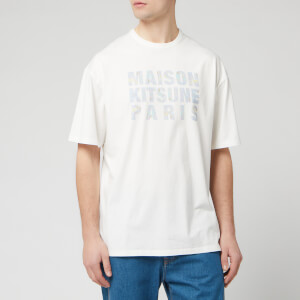 Maison Kitsuné Men's Hologram Logo T-Shirt - White