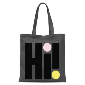 Hi! Colourful Tote Bag - Grey