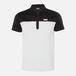 Diesel Men's Ralfy Polo Shirt - Black/White