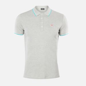 Diesel Men's Randy Polo Shirt - Light Grey Melange