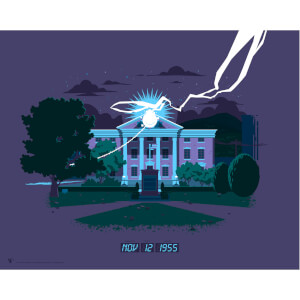 "Back To The Future ""Part One - Clocktower"" Lithograph by Florey"