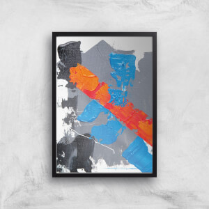 Cobalt And Orange Strike Giclee Art Print