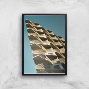 Distorted Buildings Giclee Art Print