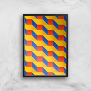 Stacked Colours Giclee Art Print