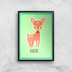 This Is A Deer Giclee Art Print