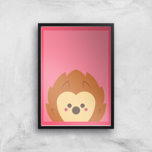 Curious Hedgehog Giclee Art Print