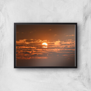 Sun Hidden By Clouds Giclee Art Print