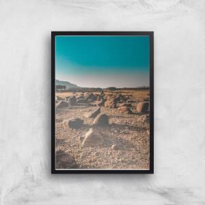 Desert Rocks Giclee Art Print