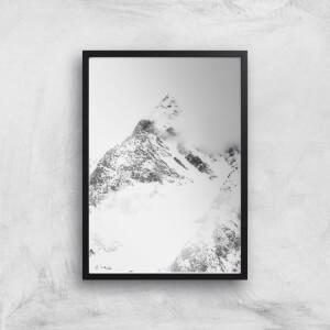 Snowy Mountain Peak Giclee Art Print