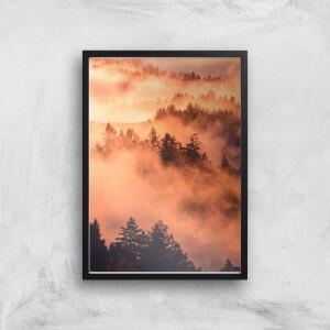 Sunset Forest Giclee Art Print